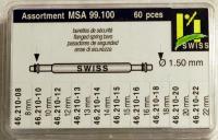 SORT. BANDST. DIA.1,5 MM SWISS 60 st, 6-20 mm nickel