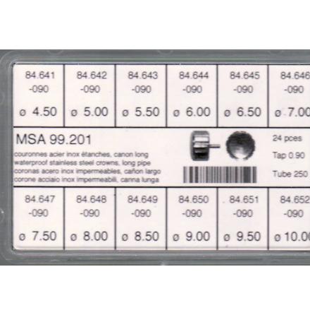SORT. KRONOR 0,90 TUB250 L 24 ST STÅL 4,5-10 mm