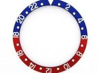 ROLEX SKALA TILL VRIDRING,BLÅR GMT SAFIR 30,75x37,6 BLÅ / RÖD
