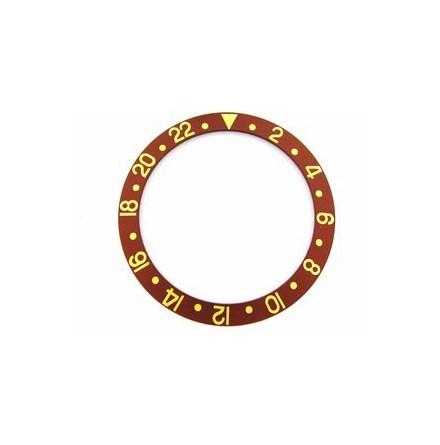 ROLEX SKALA TILL VRIDRING,BRUN GMT SAFIR 30,55x37,7 BRUN/GUL