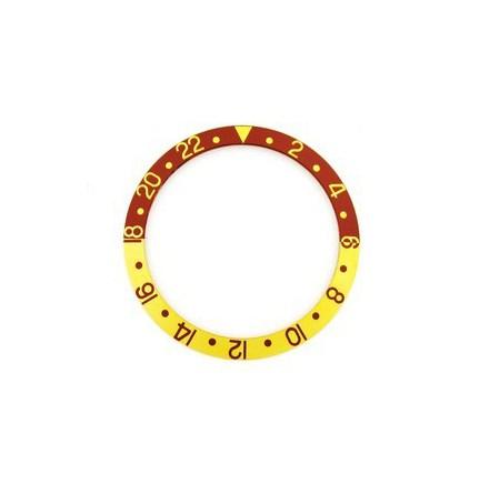 ROLEX SKALA TILL VRIDRING,GULB GMT SAFIR 30,55x37,7 BRUN/GUL