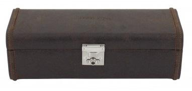BOX FÖR 4 UR, BR LÄDER VINTAGE 29x10x9,5 cm Cubano