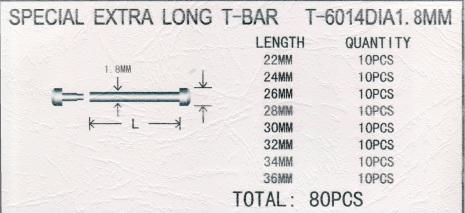 SORT. T-FÄSTE INPRESS 1,8 XL 80 ST, ROSTFR ST 22-36mm