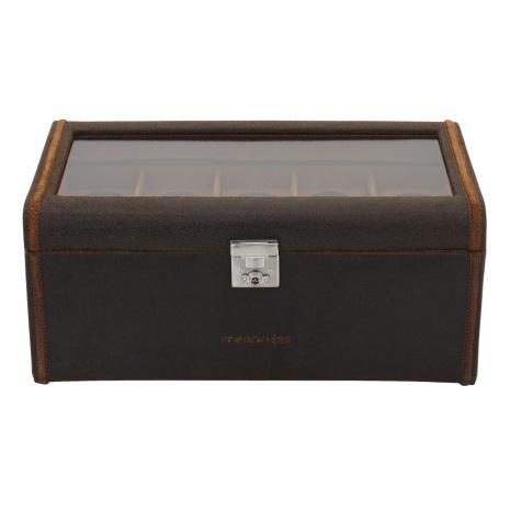 BOX FÖR 20 UR, BR LÄDER VINTAG 35,5x19,5x16 cm Cubano