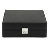 BOX FÖR 8 UR, SVART SYNTET 20,5x18x9 cm Redford