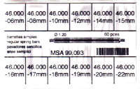 SORT. BANDSTIFT 1,2 MM FASTA 60 ST