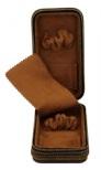 BOX FÖR 2 UR, BR.LÄDER, drgked 7,5x16,5x4,5 cm Cubano