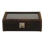 BOX FÖR 8 UR, BR LÄDER VINTAGE 29x19x9,5 cm Cubano, 0,99 kg