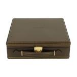 BOX FÖR 12 UR, BRUN SYNTET 27,5x30x10 cm Carbon