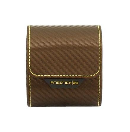 BOX FÖR 1 UR, BRUN SYNTET 8,5X7X9,5 cm Carbon