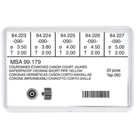 SORT. KRONOR 0,90 TUB200 VTT 20 ST GUL 5 olika dia 3,5-5 mm