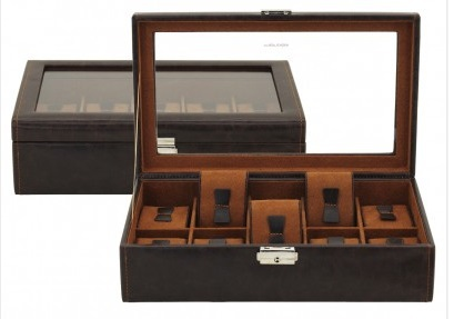 BOX FÖR 10 UR, BRUN SYNTET 30x17x8,5 cm Bond