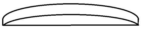 GLAS KUPIGT TJOCKT 1,5 205-500 5/10 steg