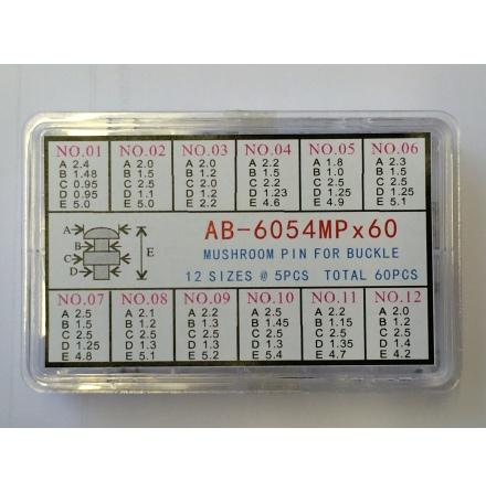 SORT. NIT/KNAPP/SVAMP 12 olika För lås med tryckknappar, stål 60st