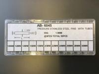 SORT. LÅSSTIFT FÖR SÄK.BYGEL 55 st. 10-30mm. nit 2,0 / rör1,5mm