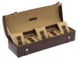 BOX FÖR 5 UR, BR LÄDER VIT SÖM KROKO 29x9,5x8 cm