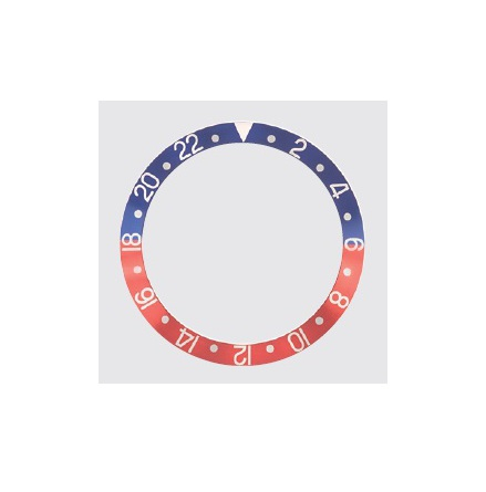 ROLEX SKALA TILL VRIDRING GMT ref 16700 Blå/röd 30,7 x 37,7 mm
