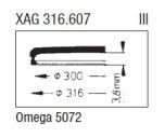 GLAS Omega PX5072 gul - nr 17 Sternkreuz XAG 316.607