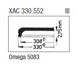 GLAS Omega PZ5083 krom - nr 409 Sternkreuz XAC 330.552