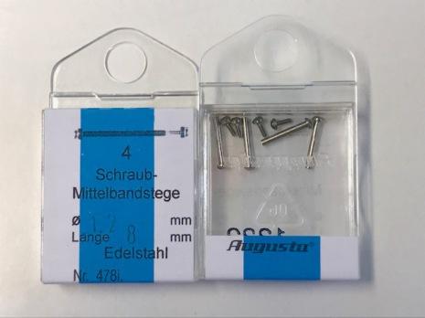 T-FÄSTEN STÅL EN SKRUV 1,2MM 4-pack, diam. 1,2 mm.