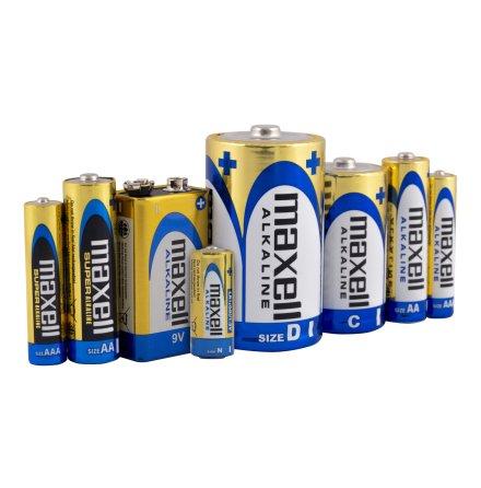 Stavbatterier, alkaliska i blisterförpackning MAXELL ALKALINE