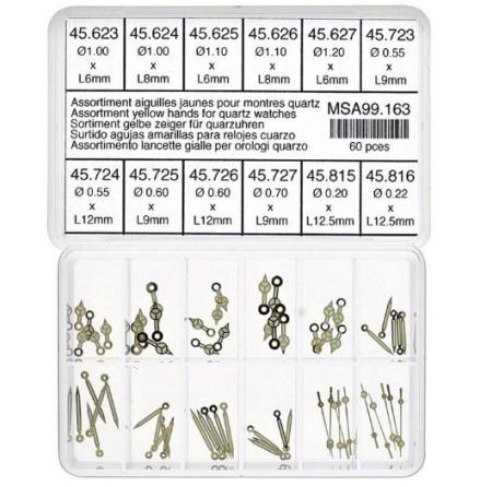 SORT. VISARESET mercedes gula 60st 6mm -12,5 mm