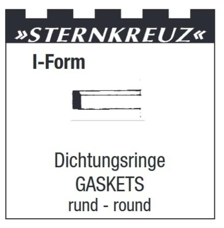 GLASPACKNING 1ST H0,8 T0,35 Sternkreuz