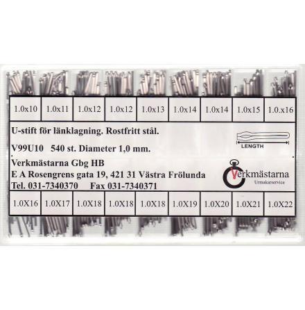 SORT. U-STIFT 1,0 10-22 MM 30ST/FACK TOTALT 540 STYCK